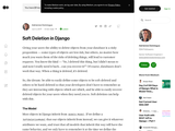 Soft Deletion in Django