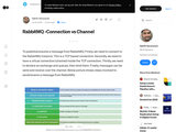 RabbitMQ -Connection vs Channel