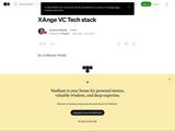 XAnge VC Tech stack