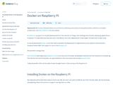 Docker on Raspberry Pi