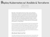 Deploy Kubernetes w/ Ansible & Terraform