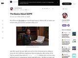 The Basics About GDPR