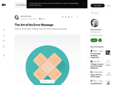The art of the error message