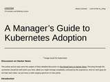 A Manager's Guide to Kubernetes Adoption