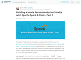 Building a Movie Recommendation Service with Apache Spark & Flask - Part 1