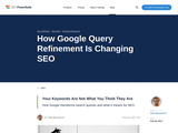 How Google Query Refinement Works