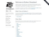 Welcome to Python cheatsheet!