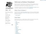 Welcome to Python cheatsheet!