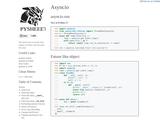 Python asyncio cheatsheet