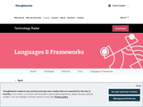 Languages And Frameworks | Technology Radar | ThoughtWorks
