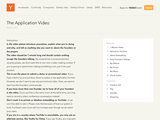 The Application Video
