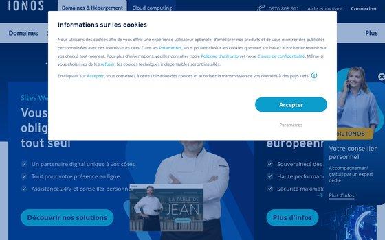 Site web de Ionos