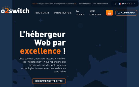 Site web de o2switch