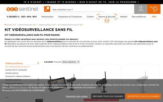 image du site https://www.scs-sentinel.com/Securite/Video+surveillance/kit+video+surveillance