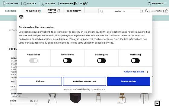 image du site https://www.sodezign.com/fr/chaises.html
