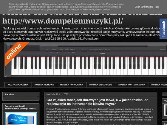 Pianino i keyboard - nauka gry przez internet