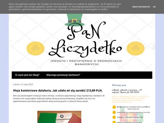 Pan Liczydelko - najlepsze promocje bankowe