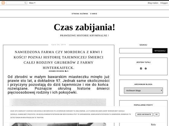 CZAS ZABIJANIA- PRAWDZIWE HISTORIE KRYMINALNE !