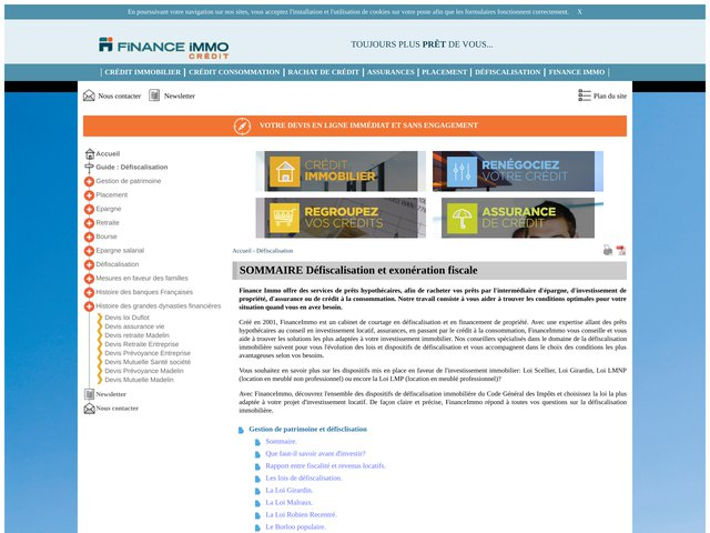 immobilier defiscalisation