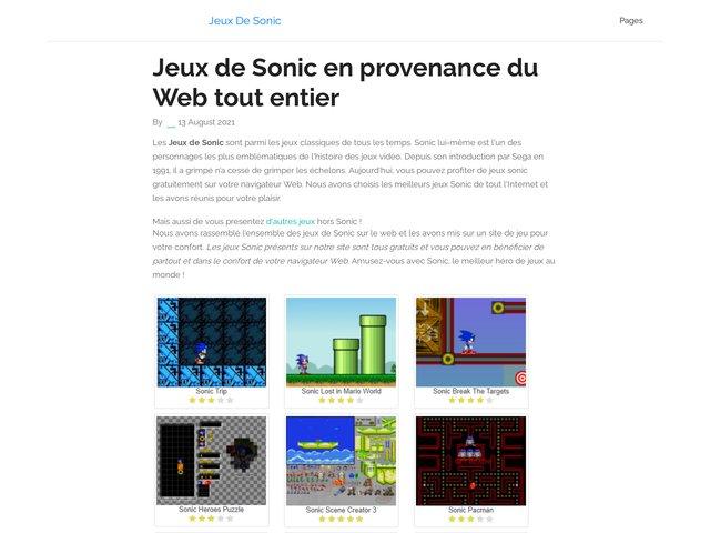 Les Jeux de Sonic