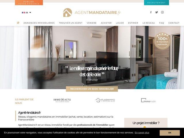 Réseau immobilier 2.0 de mandataires immobiliers.
