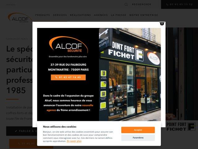 Pose serrure Fichet via Alcof Sécurité Paris