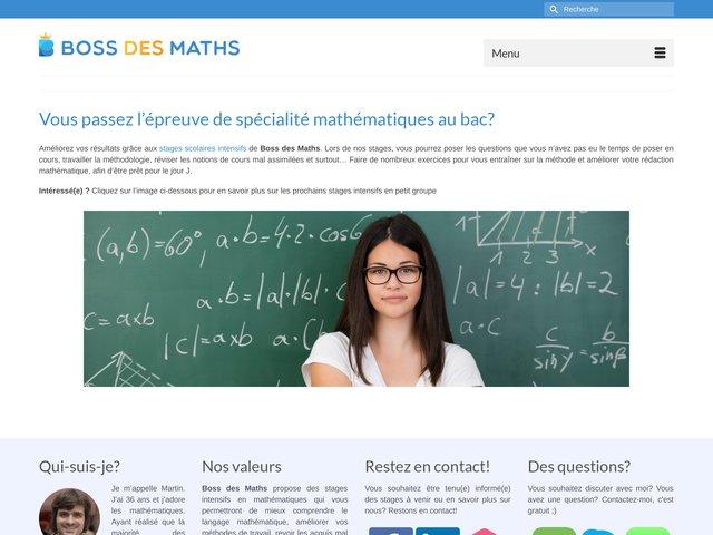 Boss des maths | Stage mathématiques Terminale S