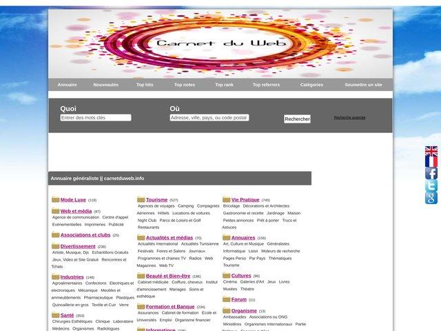 Carnet du web : guide du web