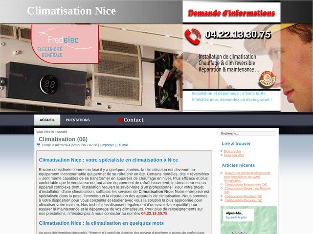 Vérification climatiseur sur les communes des Alpes-Maritimes