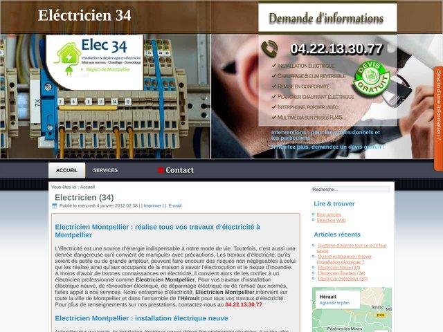 Eléctricien 34