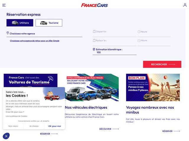 France Cars : Location voiture, location utilitaire et minibus