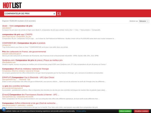 Comparateur de prix indépendant 100% français