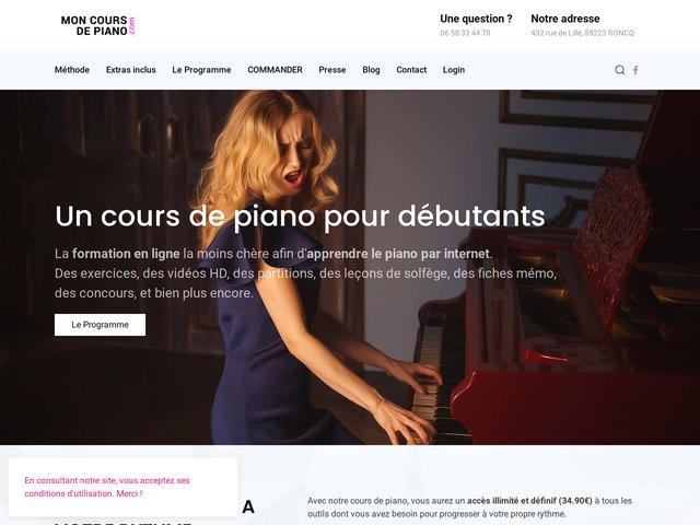 Mon cours de Piano.com : apprendre rapidement et facilement le P