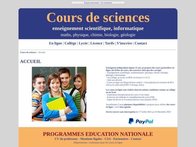 Cours particuliers de physique à domicile Toulouse