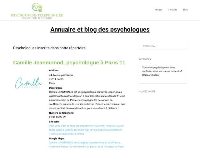 Psychologue par telephone