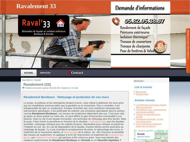 Entreprise de ravalement façade à Saint-Médard-en-Jalles et les