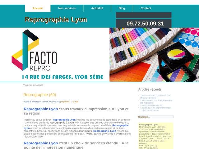 Atelier d'imprimerie à Lyon