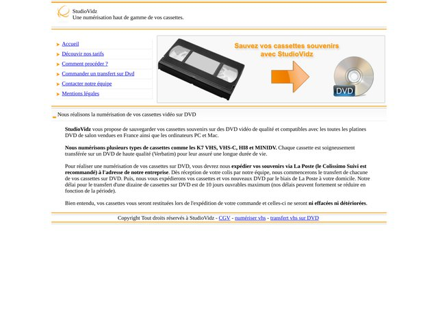 Convertir des K7 VHS