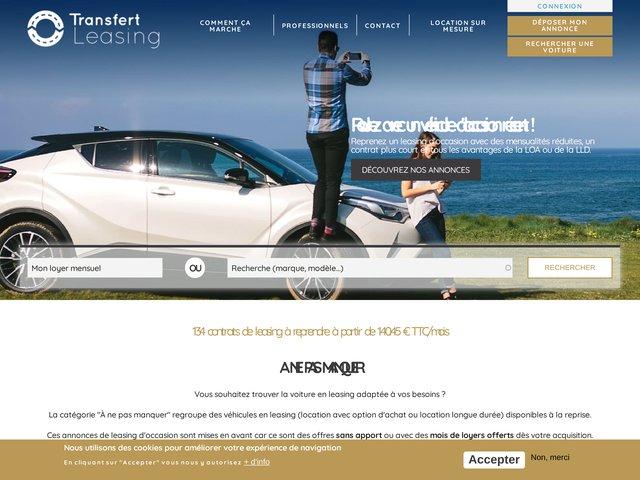 Annonces de transfert et reprise de leasing automobile pas cher,