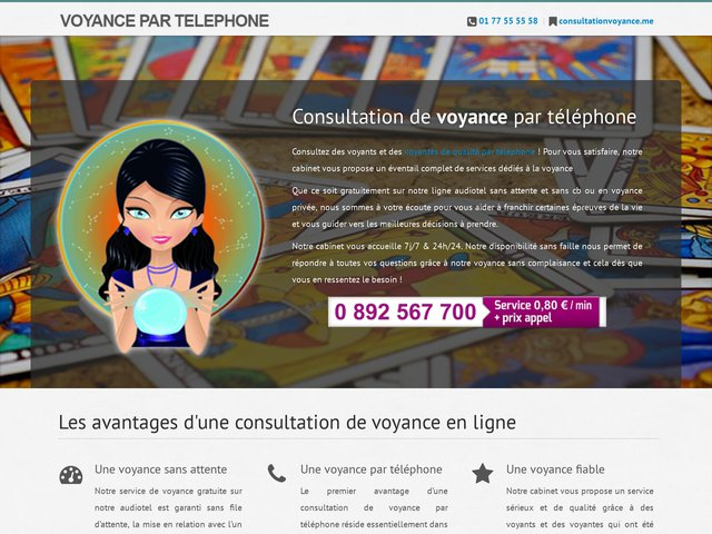 Consultation de voyance par téléphone de qualité