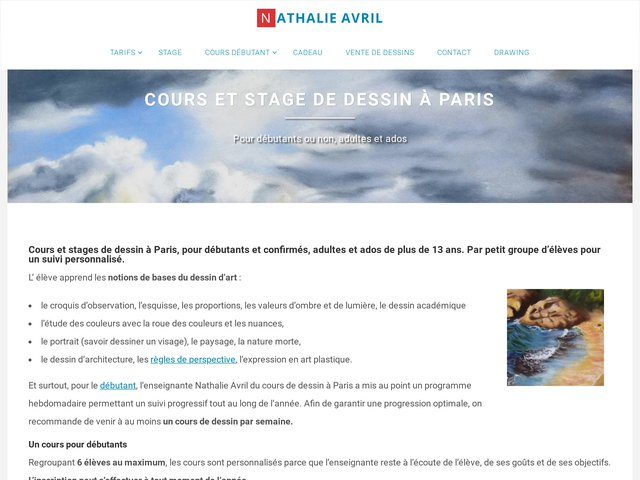 Détails : Cours de dessin Paris