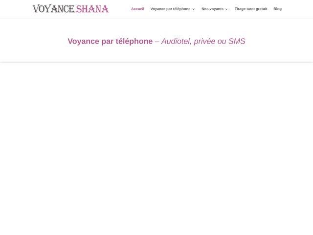 Détails : Voyance sérieuse par téléphone avec Shana