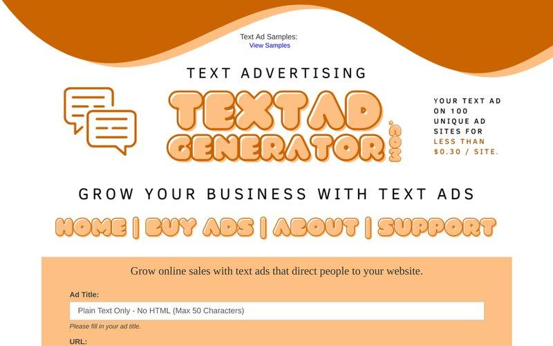 Text Ad Generator