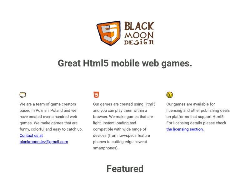 Screenshot example for https://blackmoondev.com/, using Apercite.
