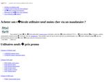 Utilitaire AutoPromo: utilitaire moins cher