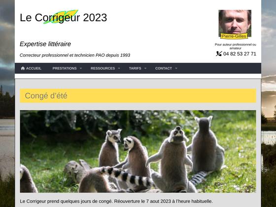 image du site http://corrigeur.fr/index.php
