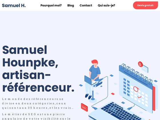 image du site http://samuelhounkpe.com/