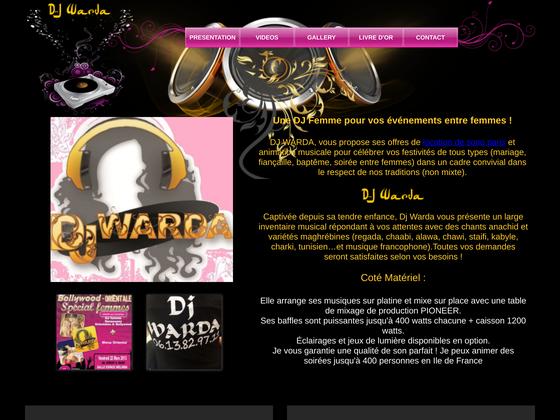 image du site http://www.djwardaparis.com