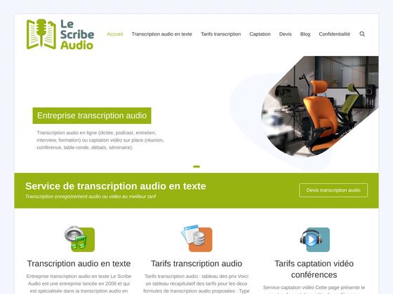 image du site http://www.lescribeaudio.com/