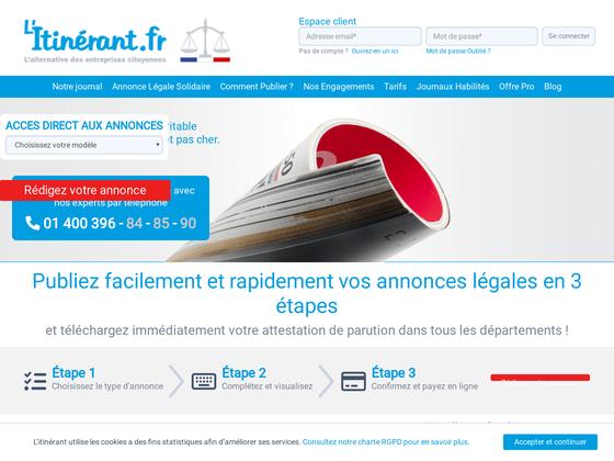 image du site http://www.litinerant.fr/modeles-exemples-annonces-legales.html
